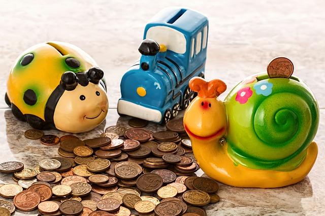 úspory z pokladniček