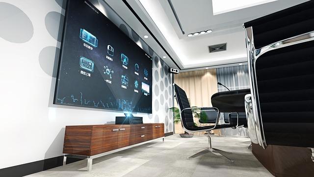 Televize v kanceláři