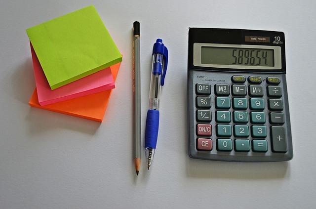 plánování, výpočet, kalkulačka, propiska