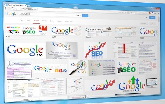 stránky vyhledávače Google